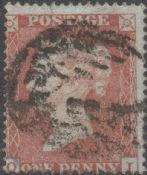 1854 1d Red SG17 Plate 162 'OI'
